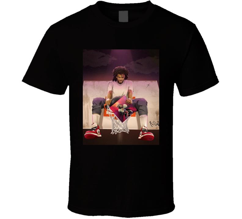 J Cole Kod Rap Hiphop Music Album Basketball Sports Fan T Shirt