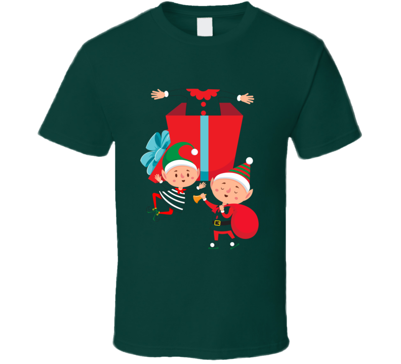 Cute Christmas Elfs Funny Holiday Party T Shirt