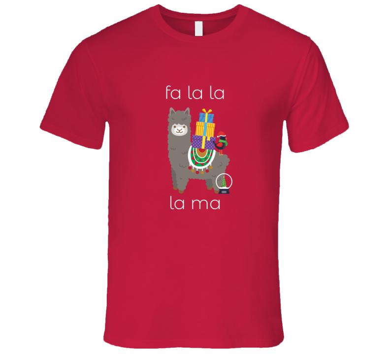Fa La La La Ma Christmas Lama Funny Holiday Party T Shirt