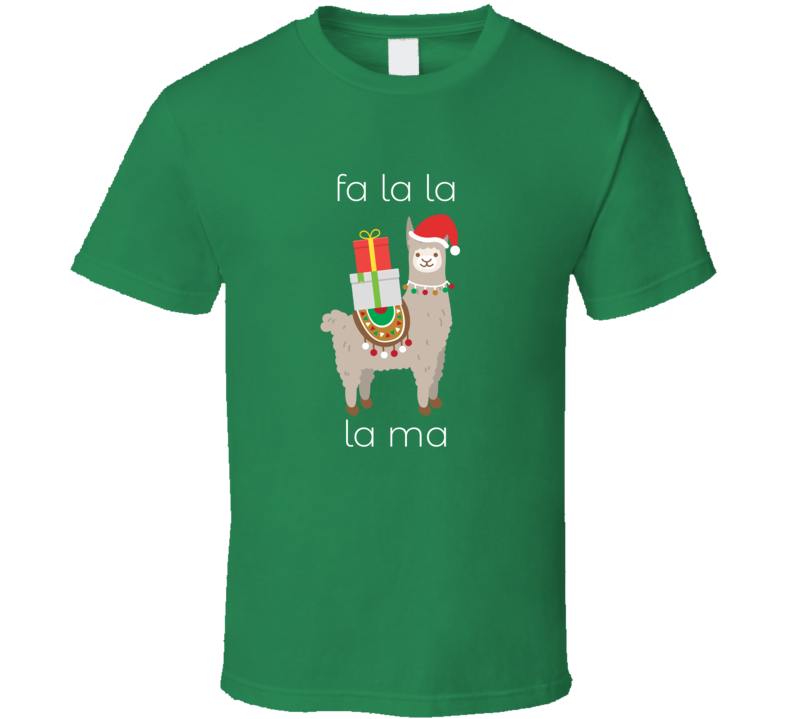 Fa La La La Ma Christmas Lama Holiday Party T Shirt