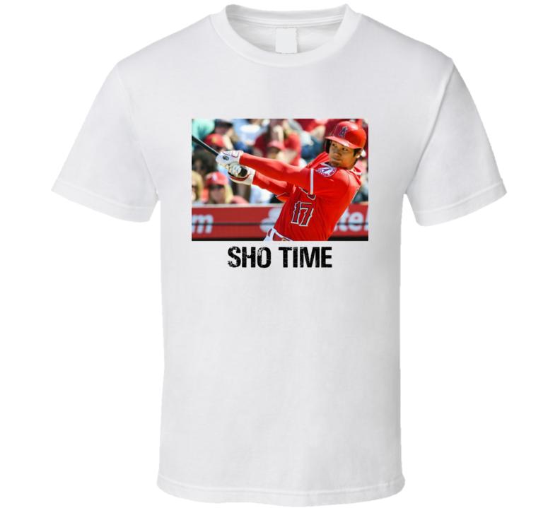 Sho Time Shohei Ohtani Pitcher Los Angeles Baseball Sports Fan T Shirt