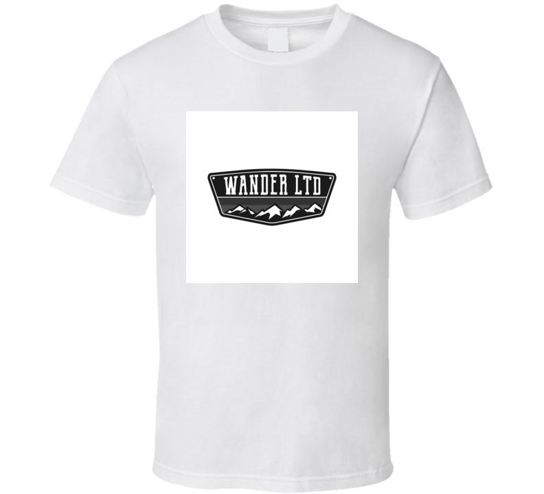 Mountain Illustration Outdoor Adventure Logo Badge Wander LTD Vintage Hand T Shirt