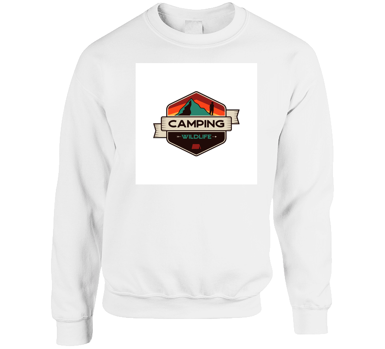 Mountain Adventure Emblem In Retro Colors Style And Hiker T Shirt
