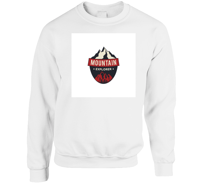 Mountain Explorer Badge Camping Adventure Emblem In Retro Colors Style And Logo T Shirt