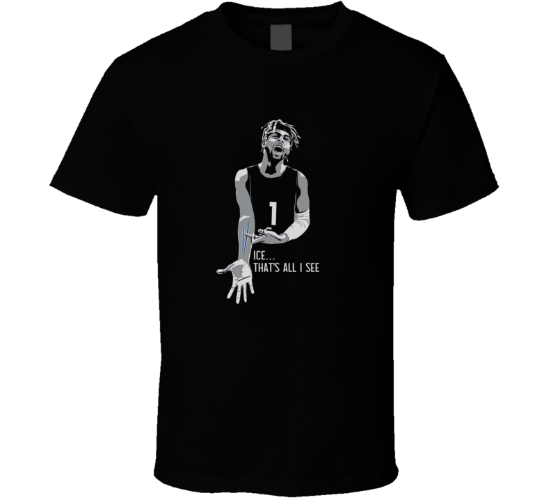 Ice Is All I See D'angelo Russell Brooklyn Basketball Team Fan T Shirt