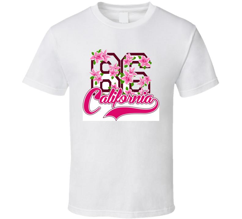 California 86 Vector Design T Shirt