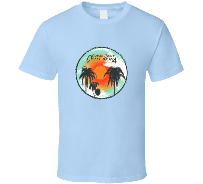 Tropical Palm T-shirt Graphic Summer Fashion Design With T Shirt