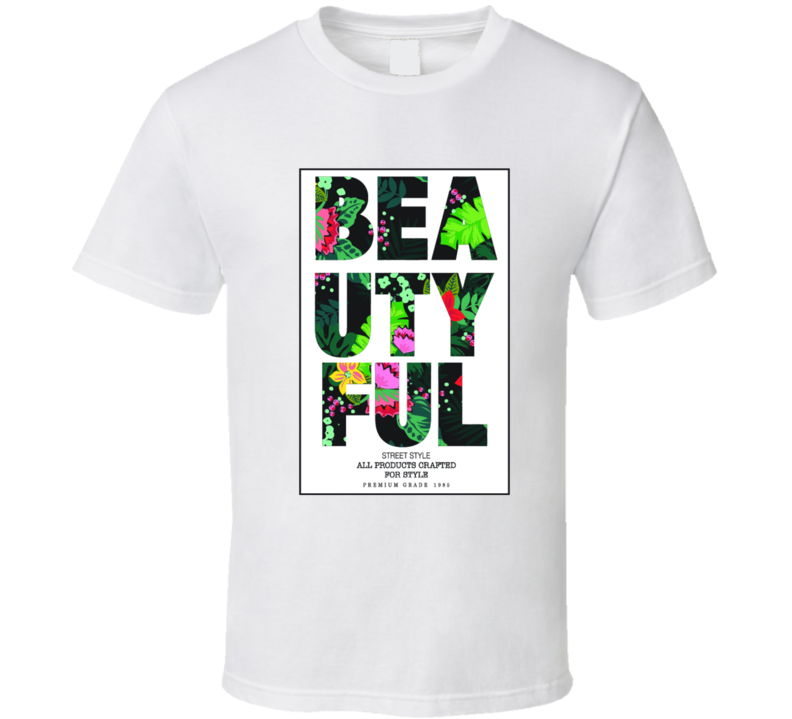 Tropical Print Beuatiful T Shirt