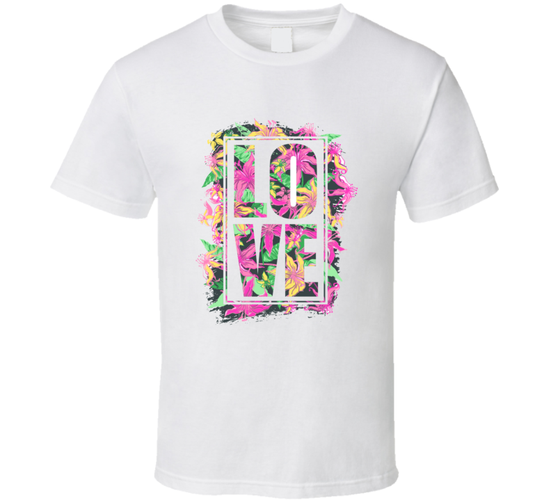 Love Funky Floral T Shirt