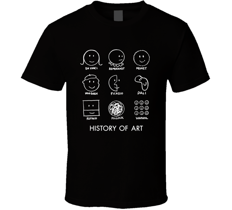 Smiley Face History Of Art Funny Famous Artist T Shirt