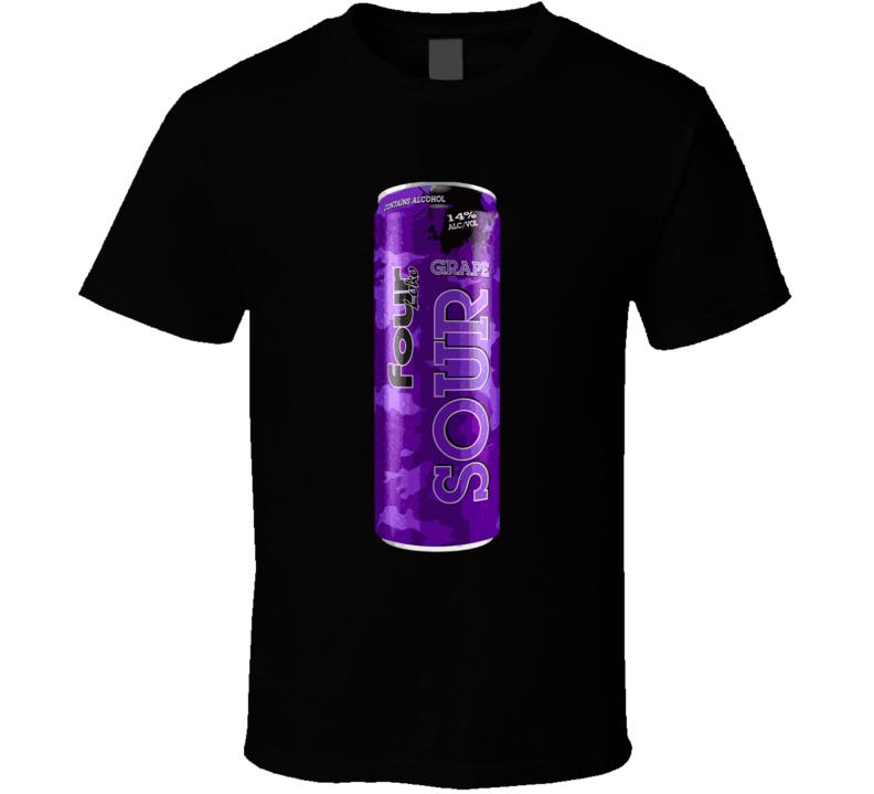 Four Loko Sour Grape Alcoholic Energy Drink T Shirt