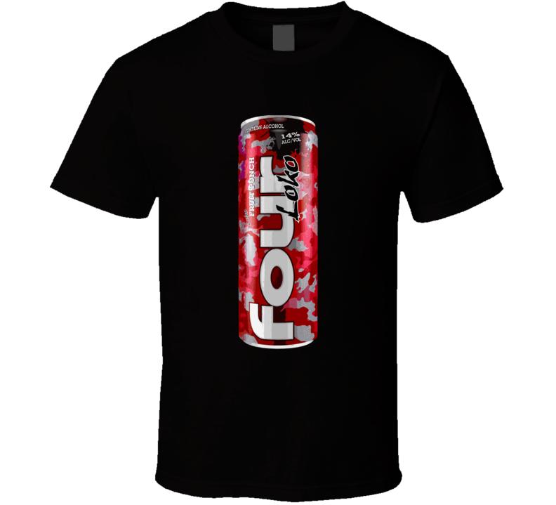 Four Loko Fruit Punch Alcoholic Energy Drink T Shirt
