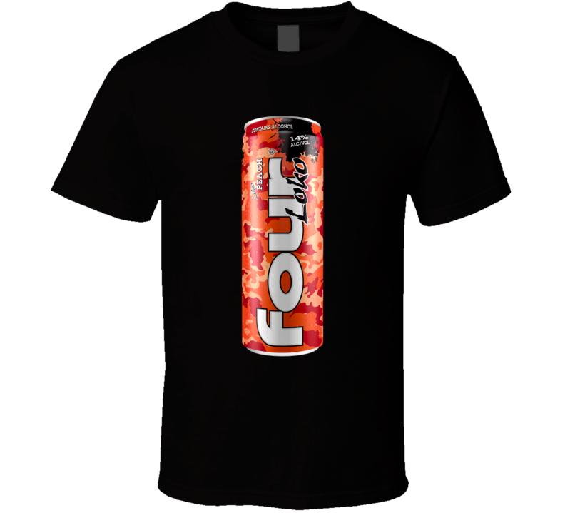 Four Loko Peach Alcoholic Energy Drink T Shirt