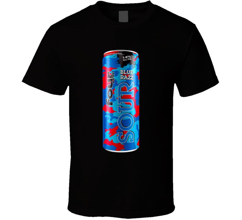Four Loko Blue Razz Alcoholic Energy Drink T Shirt