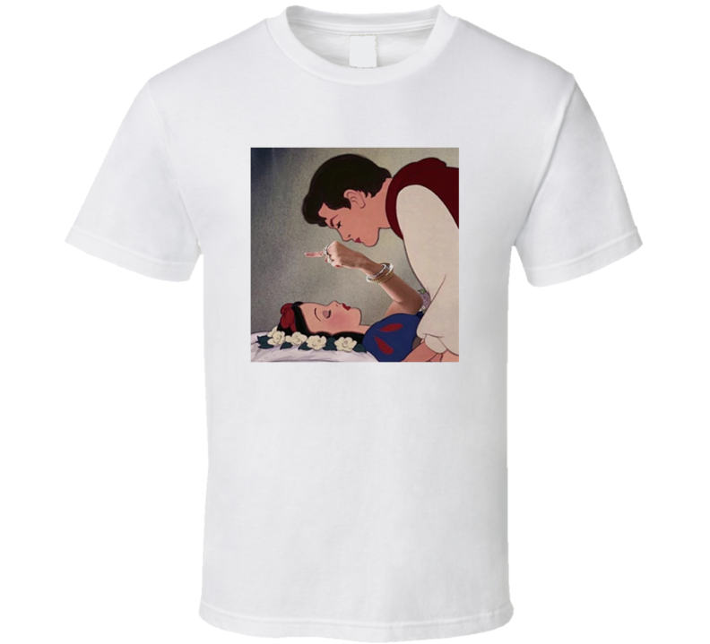 Snow White Giving The Middle Finger To Prince Cartoon Princess T Shirt