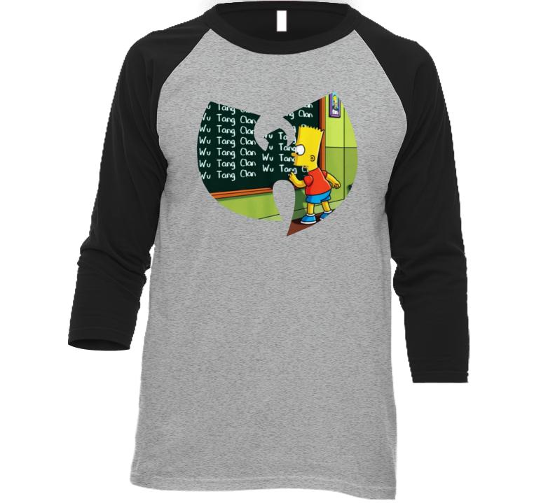 Bart Simpson Wu Tang Mashup Simpsons Cartoon Parody Music Fan T Shirt