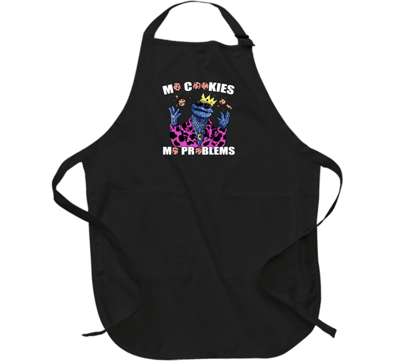 Mo Cookies Mo Problems Cookie Monster Seasome Street Funny Tv Apron