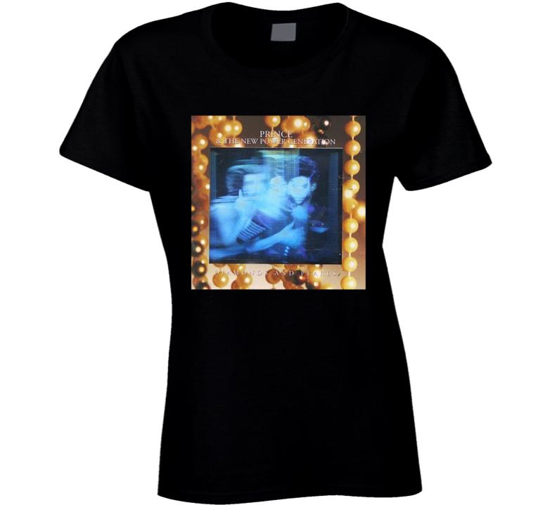 Prince Diamonds And Pearls Album Cover Singer Music Legend Ladies T Shirt