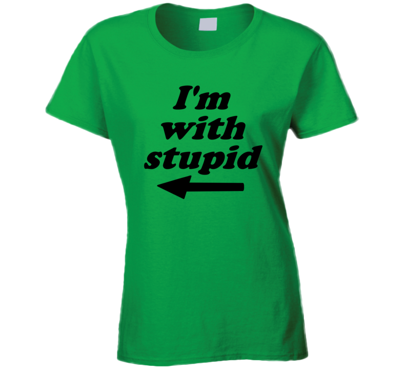 South Park Im With Stupid Kennys Mom Carol Mccormick Ladies T Shirt