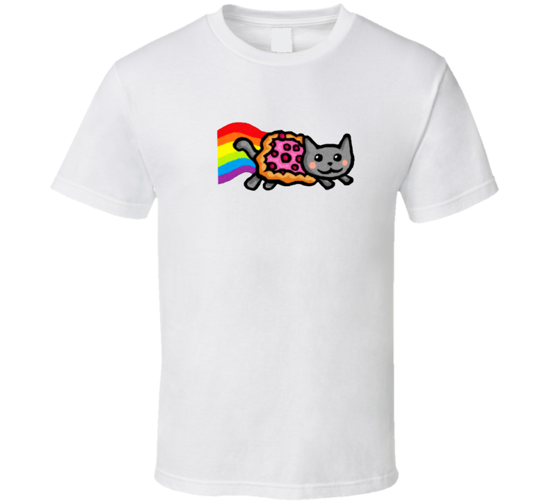 Funny Trendy Pizza Rainbow Tumblr Cat T Shirt