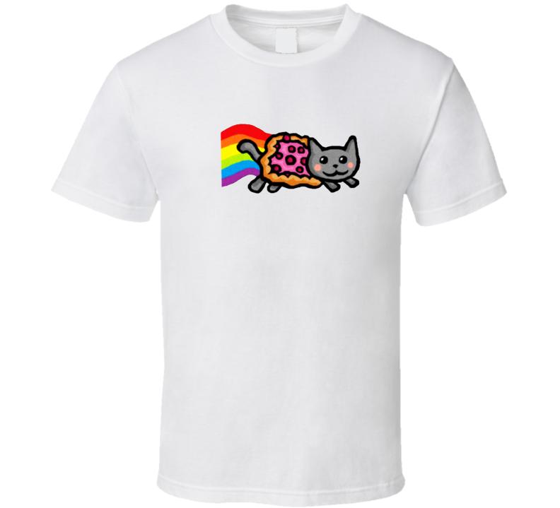 Funny Trendy Pizza Rainbow Tumblr Cat T Shirt