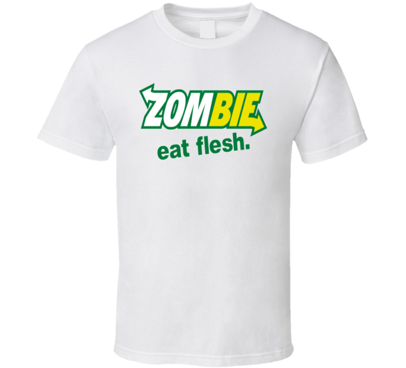 Subway Parody Zombie Eat Flesh Fast Food Funny T Shirt