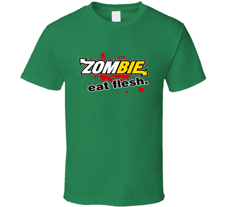 Subway Restaurant Zombie Eat Flesh Parody Slogan Funny T Shirt
