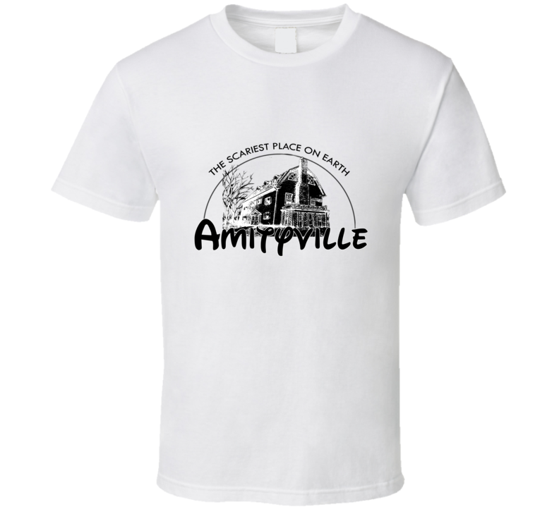 Disney Parody Amityville Horror Movie Funny Party T Shirt