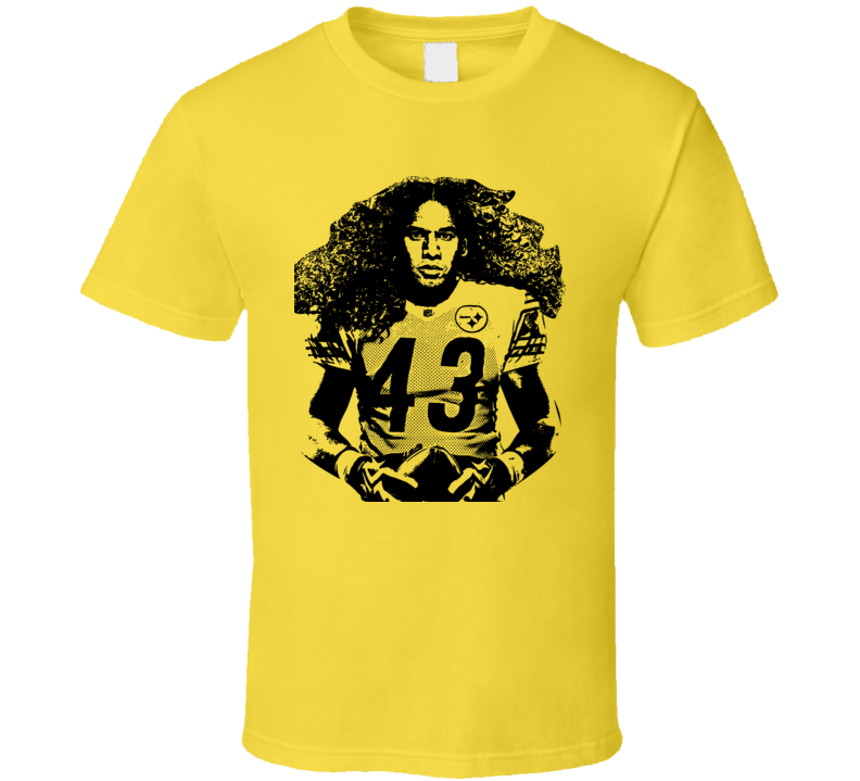 Troy Polamalu Pittsburgh Safety Hair Steel T Shirt