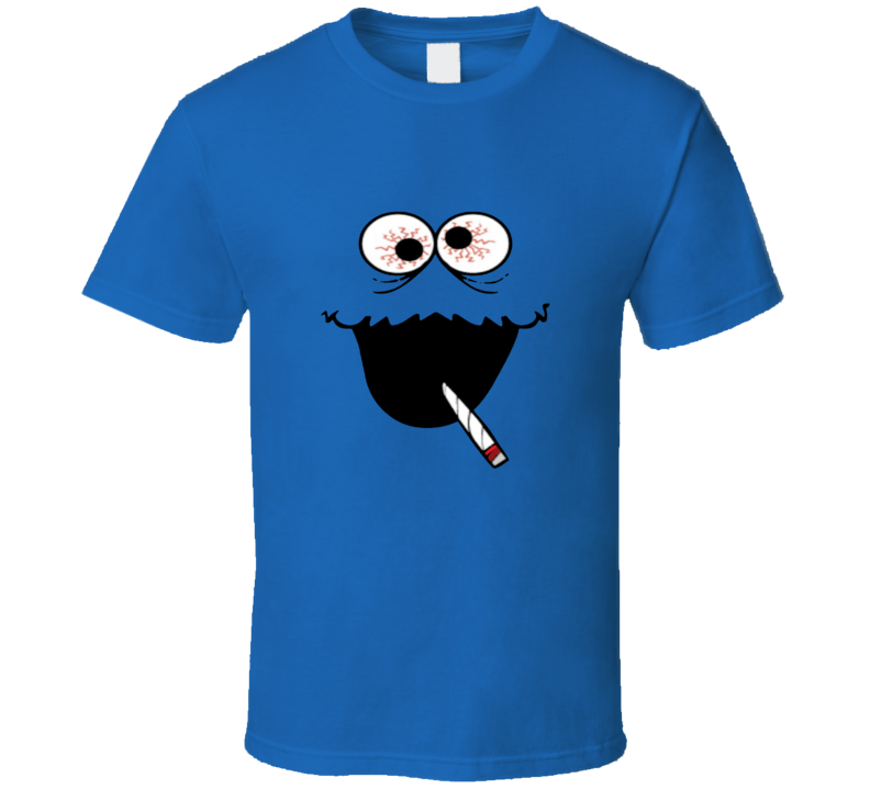 Munchie Monster Stoned Cookie Monster High Weed Parody Sesame Street TV Show T Shirt