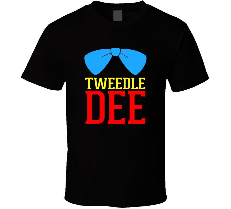 Tweedle Dee Tweedle Dum Funny Couples Matching Event Partners T Shirt