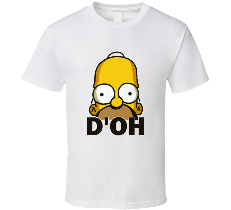 Homer Simpson DOH Funny TV Show Character T Shirt