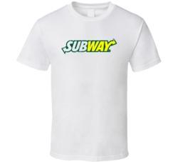 Subway Fast Food Restaurant Distressed Look T Shirt