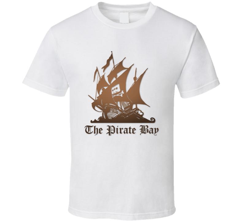The Pirate Bay Logo T Shirt White
