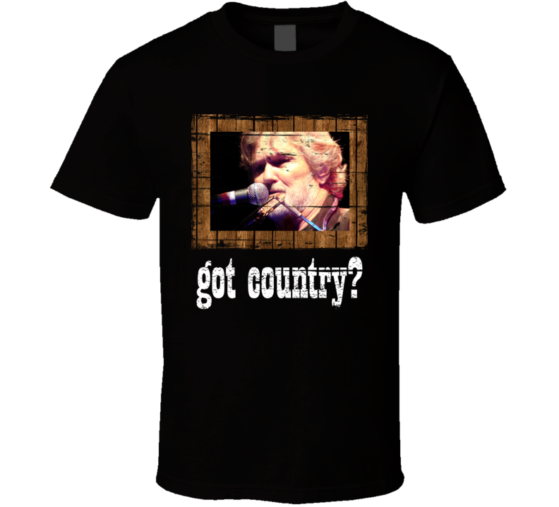 Kris Kristofferson Got Country Distressed Image T Shirt