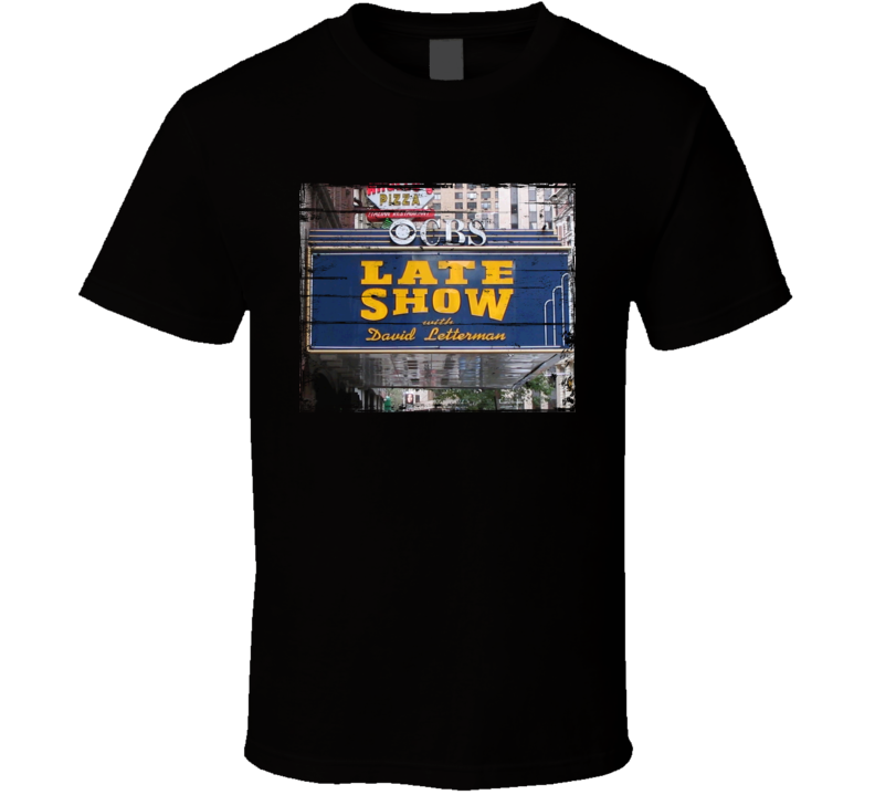 Late Night with David Letterman TV Show Distressed Look T Shirt