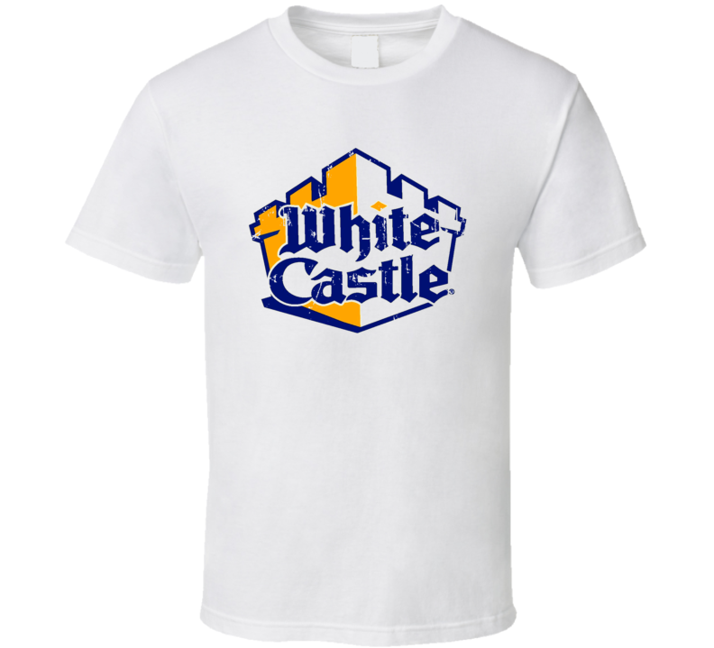 White Castle Fast Food Restaurant Distressed Look T Shirt