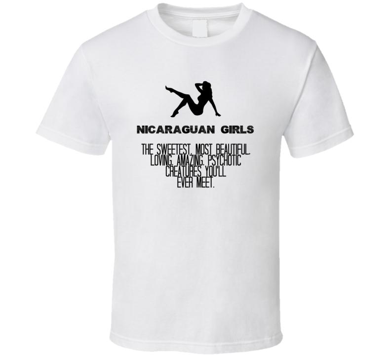 Nicaraguan Girls Beautiful Creatures Essential Nationality T Shirt
