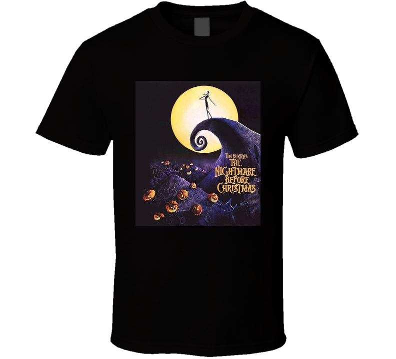 Nightmare Before Christmas Poster T Shirt T shirt