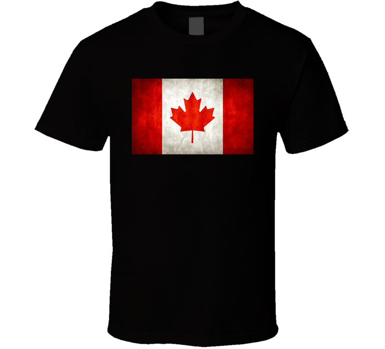 Canada Flag Black T shirt