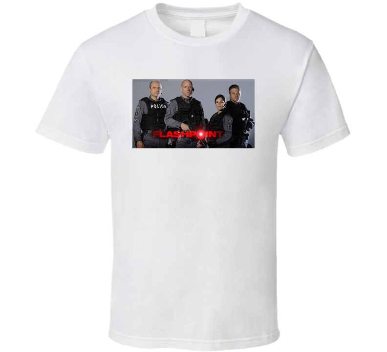 Flashpoint Cast Tv Series White T shirt