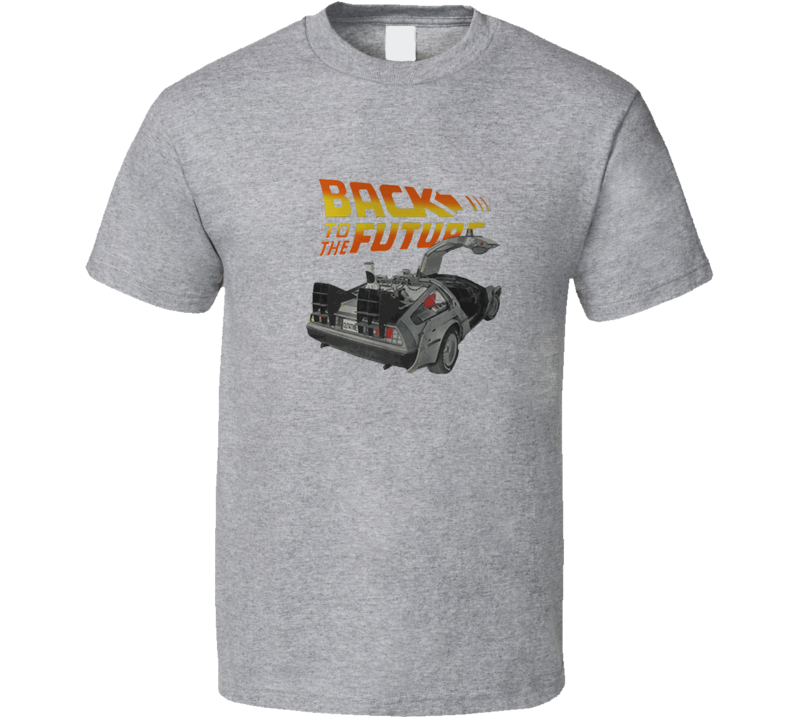 Back To The Future Movie Delorean Car T shirt