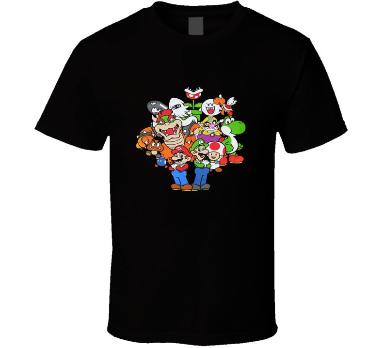 Nintendo Super Mario Luigi-Toad-Princess & the gang T Shirt