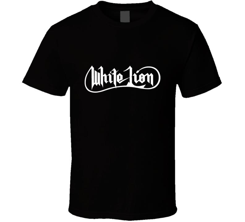 White Lion Music Band Retro Funny T Shirt