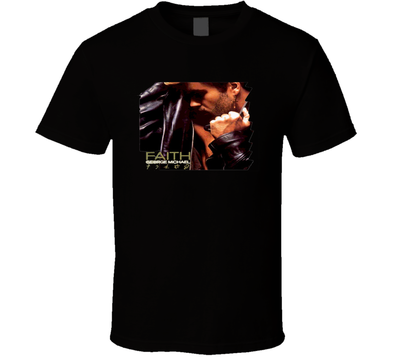 George Michael Faith Wham Vintage Pop Dance Black T Shirt