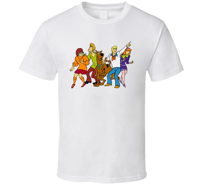 Scooby-Doo Cartoons TV Velma Shaggy Wilma Fred Mystery Gang T Shirt