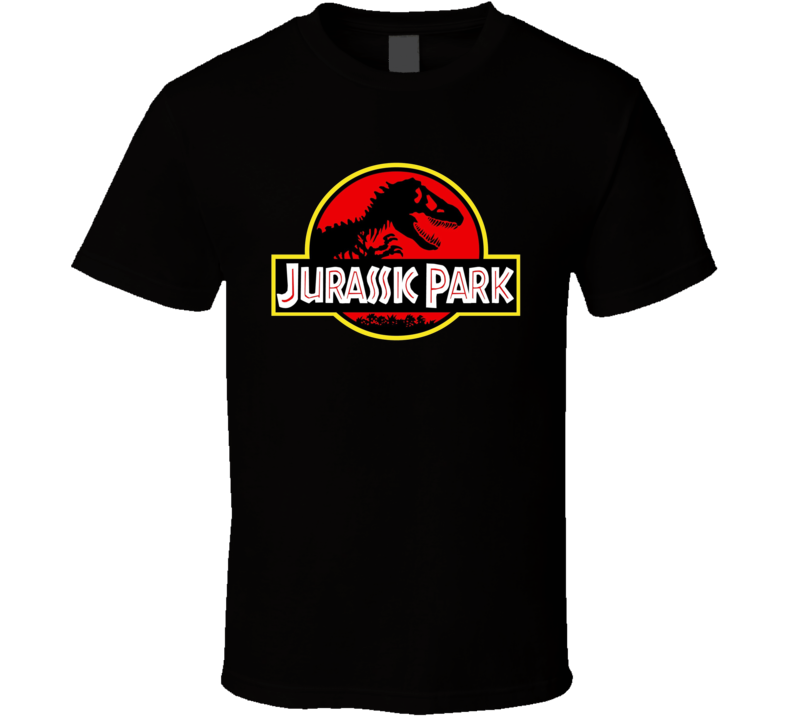 Jurassic Park logo movie Dinosaur Any Color T Shirt