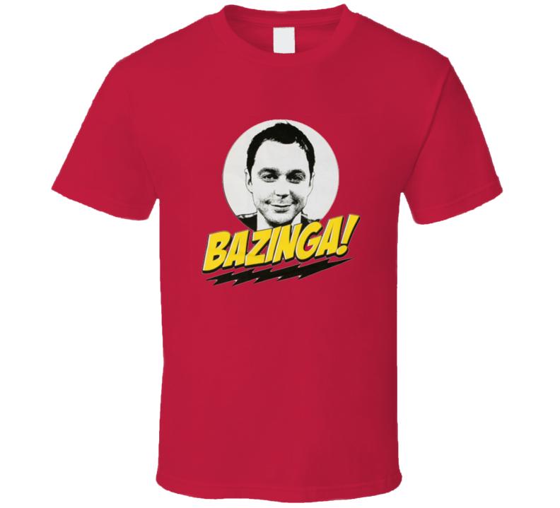 The Big Bang Theory Sheldon Cooper Bazinga T Shirt