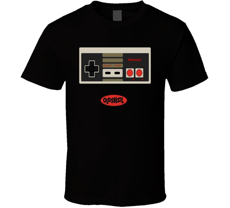 NES Nintendo Entertainment System Controller Retro Black T Shirt