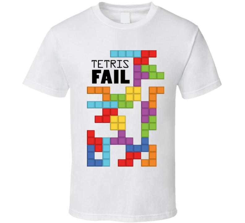 TETRIS Video Game Epic Fail Funny nintendo wii xbox White T Shirt